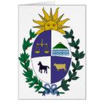 Escudo de armas de Uruguay Tarjetón