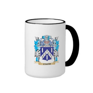 Escudo de armas de Usher - escudo de la familia Taza De Dos Colores