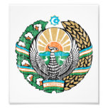 Escudo de armas de Uzbekistán Fotos