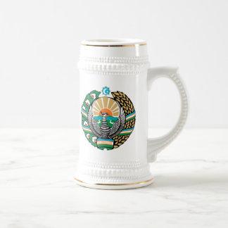 Escudo de armas de Uzbekistán Jarra De Cerveza