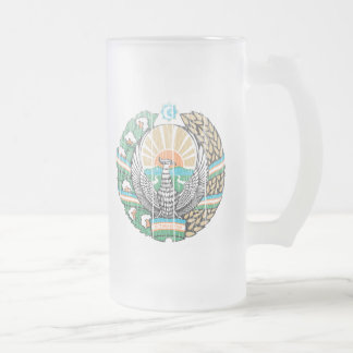 Escudo de armas de Uzbekistán Taza De Cristal