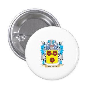 Escudo de armas de Valenta - escudo de la familia Pin Redondo 2,5 Cm
