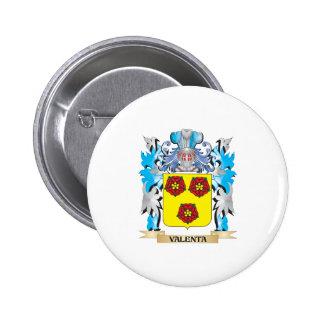 Escudo de armas de Valenta - escudo de la familia Pin Redondo 5 Cm