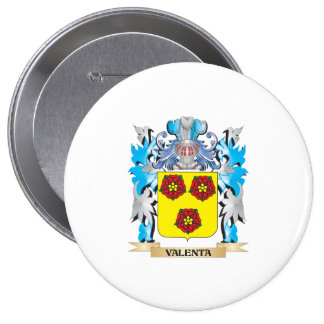Escudo de armas de Valenta - escudo de la familia Pin Redondo 10 Cm