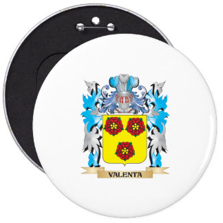 Escudo de armas de Valenta - escudo de la familia Pin Redondo 15 Cm