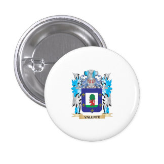 Escudo de armas de Valente - escudo de la familia Pin Redondo 2,5 Cm