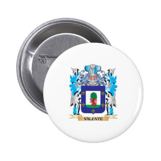 Escudo de armas de Valente - escudo de la familia Pin Redondo 5 Cm