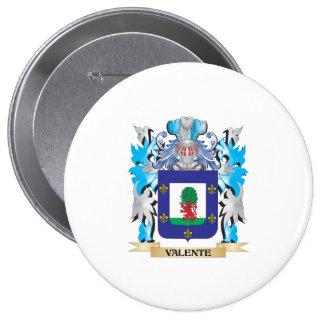 Escudo de armas de Valente - escudo de la familia Pin Redondo 10 Cm