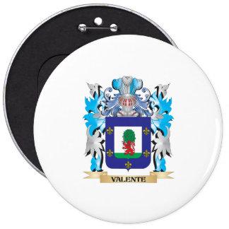 Escudo de armas de Valente - escudo de la familia Pin Redondo 15 Cm