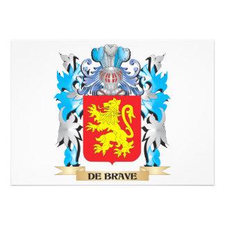 Escudo de armas De-Valiente - escudo de la familia