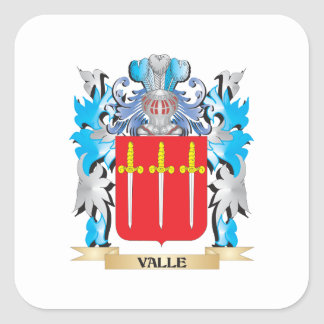 Escudo de armas de Valle - escudo de la familia Calcomanías Cuadradases