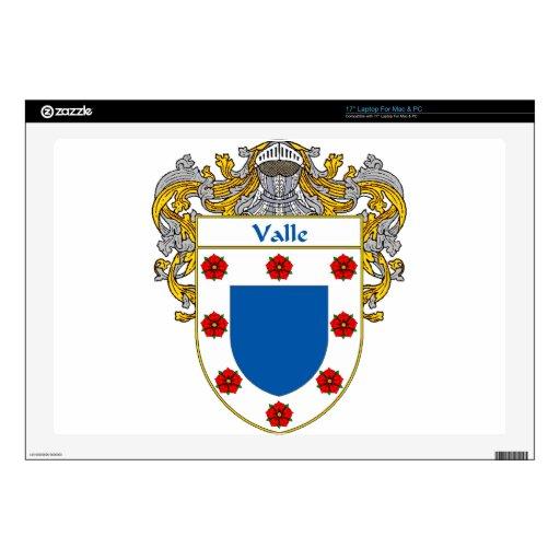 Escudo de armas de Valle/escudo de la familia Portátil Skins