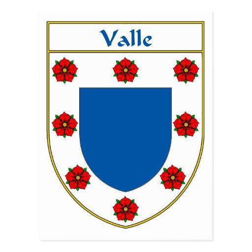 Escudo de armas de Valle/escudo de la familia Tarjetas Postales