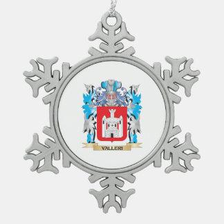 Escudo de armas de Valleri - escudo de la familia Adorno De Peltre En Forma De Copo De Nieve