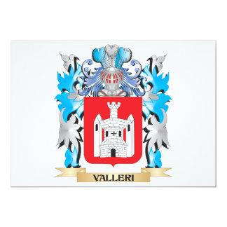 """Escudo de armas de Valleri - escudo de la familia Invitación 5"""" X 7"""""""