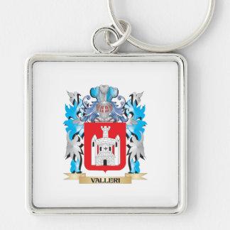 Escudo de armas de Valleri - escudo de la familia Llavero Cuadrado Plateado