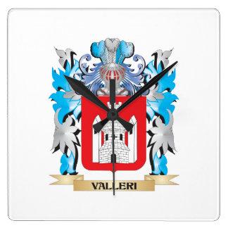 Escudo de armas de Valleri - escudo de la familia Reloj Cuadrado