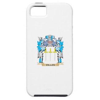 Escudo de armas de Valles - escudo de la familia iPhone 5 Case-Mate Funda
