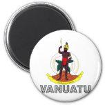 Escudo de armas de Vanuatu Imán Redondo 5 Cm