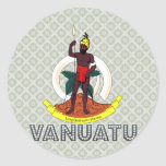 Escudo de armas de Vanuatu Pegatina Redonda