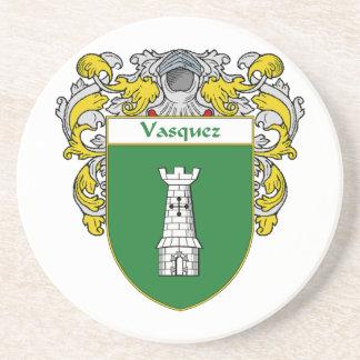 Escudo de armas de Vasquez/escudo de la familia Posavasos Para Bebidas