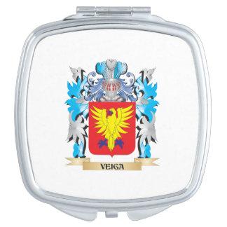 Escudo de armas de Veiga - escudo de la familia Espejo Compacto