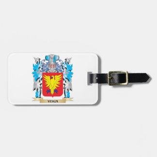 Escudo de armas de Veiga - escudo de la familia Etiqueta Para Maleta