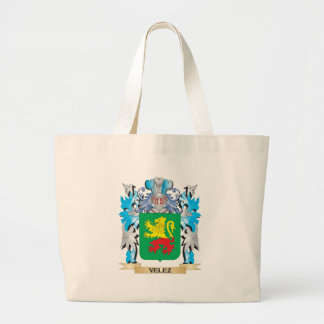 Escudo de armas de Velez - escudo de la familia Bolsa Tela Grande