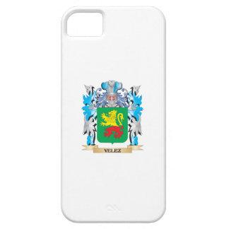 Escudo de armas de Velez - escudo de la familia Funda Para iPhone 5 Barely There