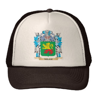 Escudo de armas de Velez - escudo de la familia Gorro De Camionero
