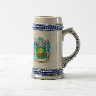 Escudo de armas de Velez - escudo de la familia Jarra De Cerveza