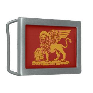 Escudo de armas de Venecia Hebilla De Cinturon Rectangular