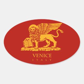 Escudo de armas de Venecia Pegatina Oval
