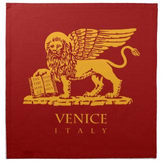 Escudo de armas de Venecia Servilleta