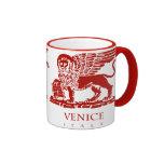 Escudo de armas de Venecia Taza A Dos Colores