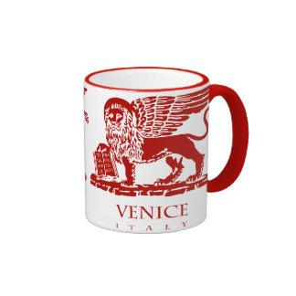 Escudo de armas de Venecia Taza De Dos Colores