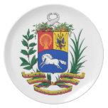 Escudo de armas de Venezuela Plato De Comida