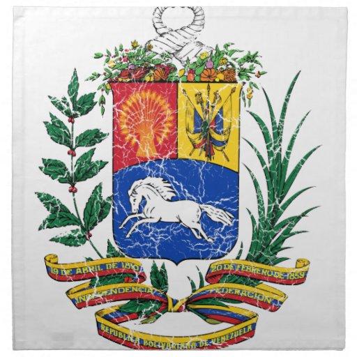 Escudo de armas de Venezuela Servilletas