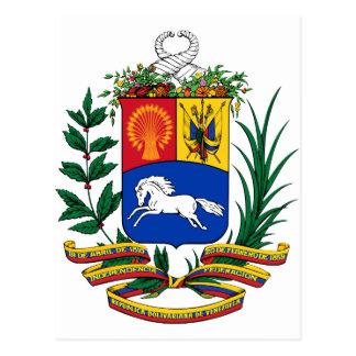 Escudo de armas de Venezuela Tarjetas Postales