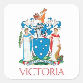 Escudo de armas de Victoria Pegatina Cuadrada
