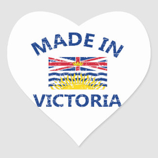 escudo de armas de Victoria Pegatina En Forma De Corazón