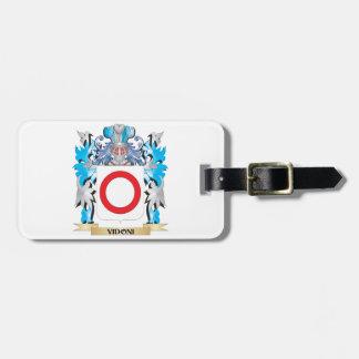Escudo de armas de Vidoni - escudo de la familia Etiqueta De Maleta