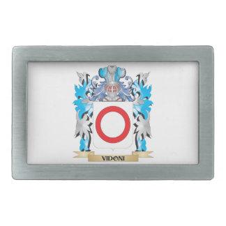 Escudo de armas de Vidoni - escudo de la familia Hebilla Cinturon Rectangular