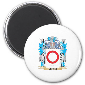 Escudo de armas de Vidoni - escudo de la familia Iman Para Frigorífico