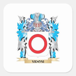 Escudo de armas de Vidoni - escudo de la familia Calcomanía Cuadradase