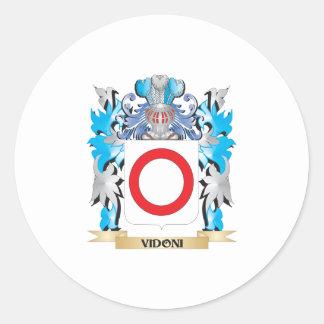 Escudo de armas de Vidoni - escudo de la familia Pegatina Redonda