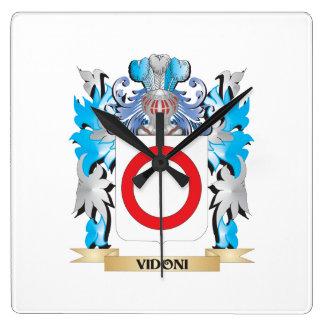 Escudo de armas de Vidoni - escudo de la familia Reloj De Pared
