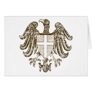 Escudo de armas de Viena del vintage Tarjeta De Felicitación