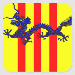 Escudo de armas de Vietnam del sur (1954 - 1955) Pegatina Cuadrada
