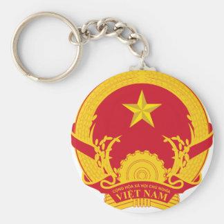 Escudo de armas de Vietnam Llavero Redondo Tipo Pin